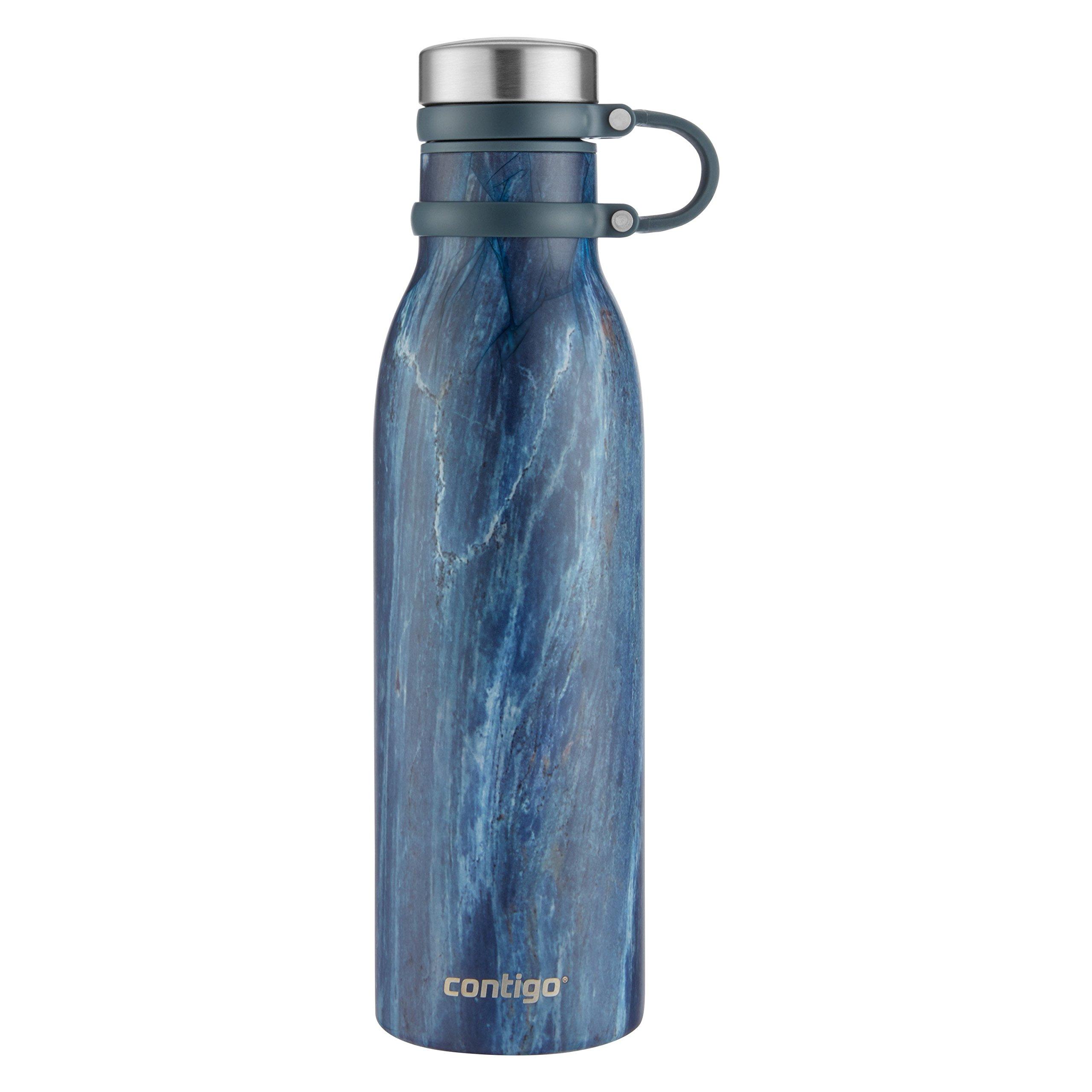 Contigo Couture Vacuum-Insulated Stainless Steel Water Bottle, 20 oz, Blue Slate by Contigo