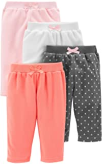 78ce2d2e5 Amazon.com: Simple Joys by Carter's Baby Girls' 4-Pack Pant: Clothing