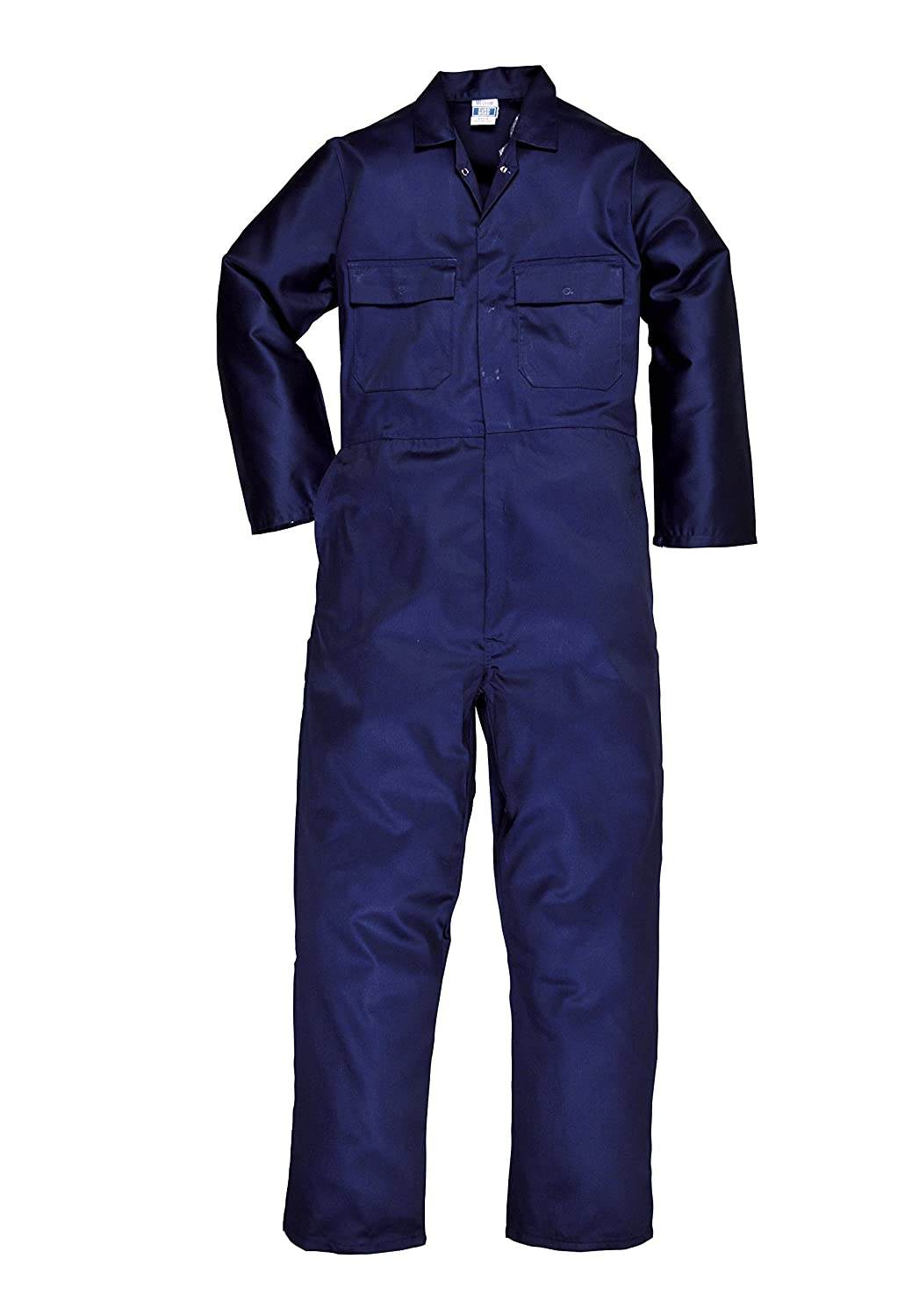 Portwest Euro Work Polycotton Coverall (S999) - Navy Blue - XL - Regular (31' Leg) - (46' - 48' Chest) RA-PW200-Reg-Navy-XL