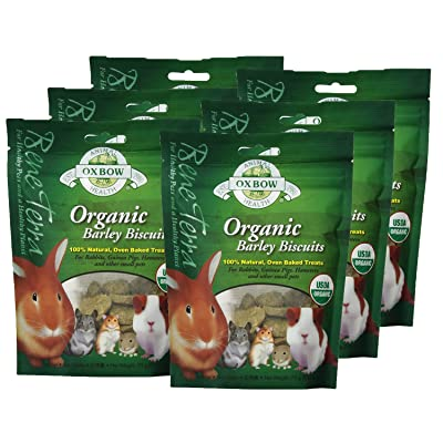 Oxbow Animal Health Barley Biscuits Bene Terra Organic Food and Treats, 2.65-Ounce (6 Pack): Pet Supplies