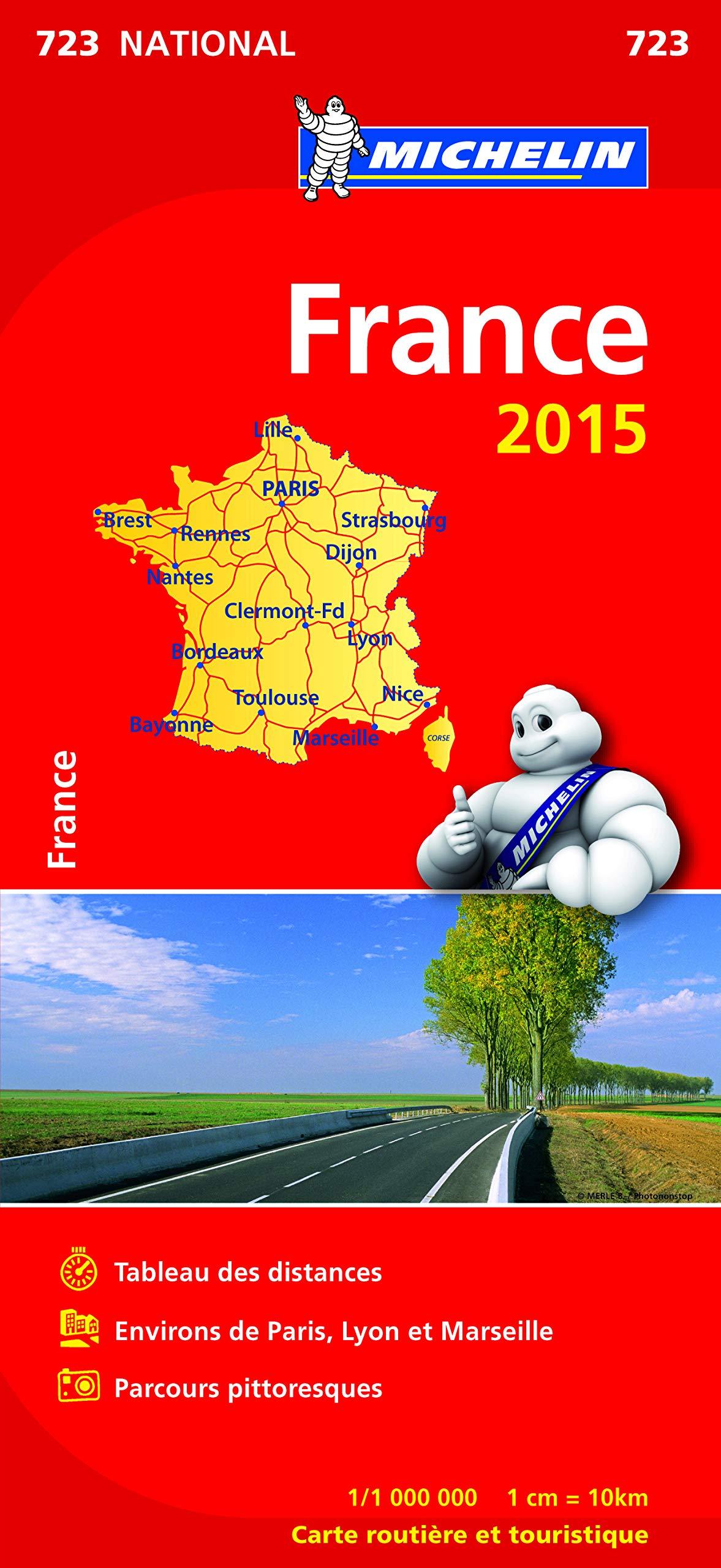Carte nationale routière et touristique Environs de Paris