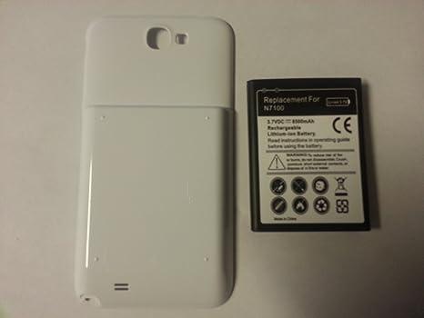 Samsung Galaxy Note II 6500 mAh Bastex batería + Carcasa trasera ...