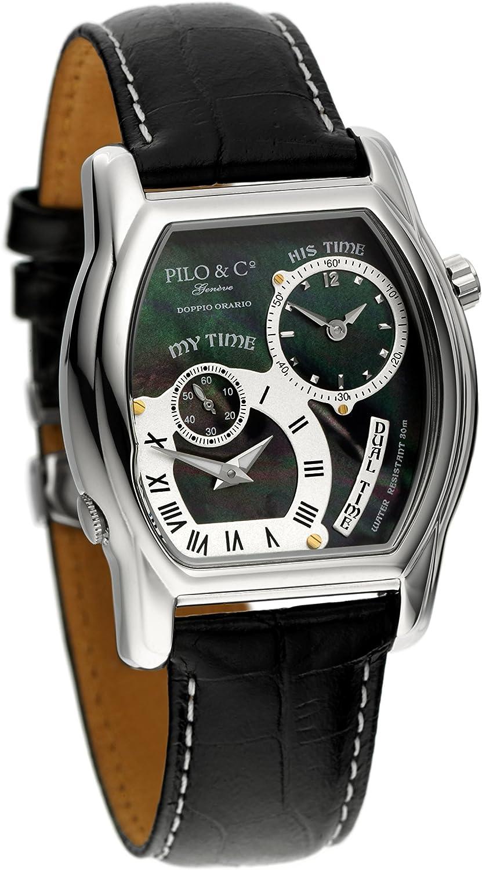 Pilo & Co Swiss Quartz Doppio orario Reloj de Pulsera de Mujer Colección p0304dqs