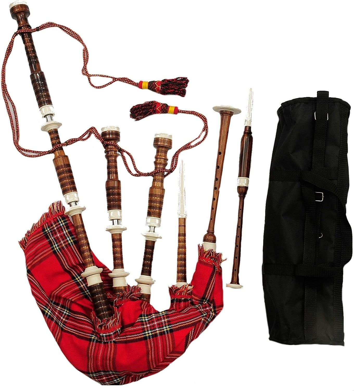 Gran Highland gaita palisandro imattion marfil Mounts/Gaita escocesa Shesham madera natural Acabado: Amazon.es: Instrumentos musicales