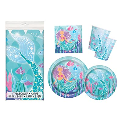 Mermaid Birthday Party Supplies Pack - Serves 16: Toys & Games