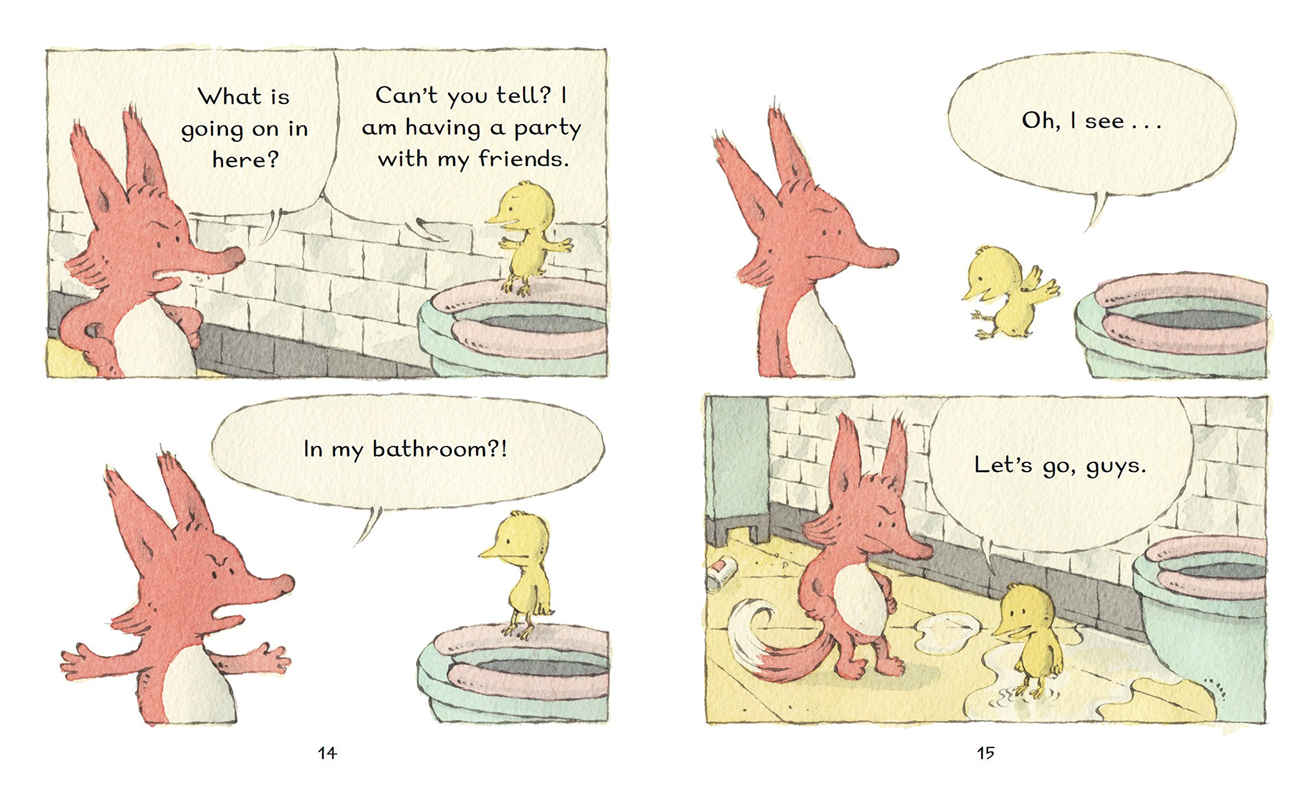 Fox & Chick: The Party: and Other Stories by Chronicle Books (Image #1)