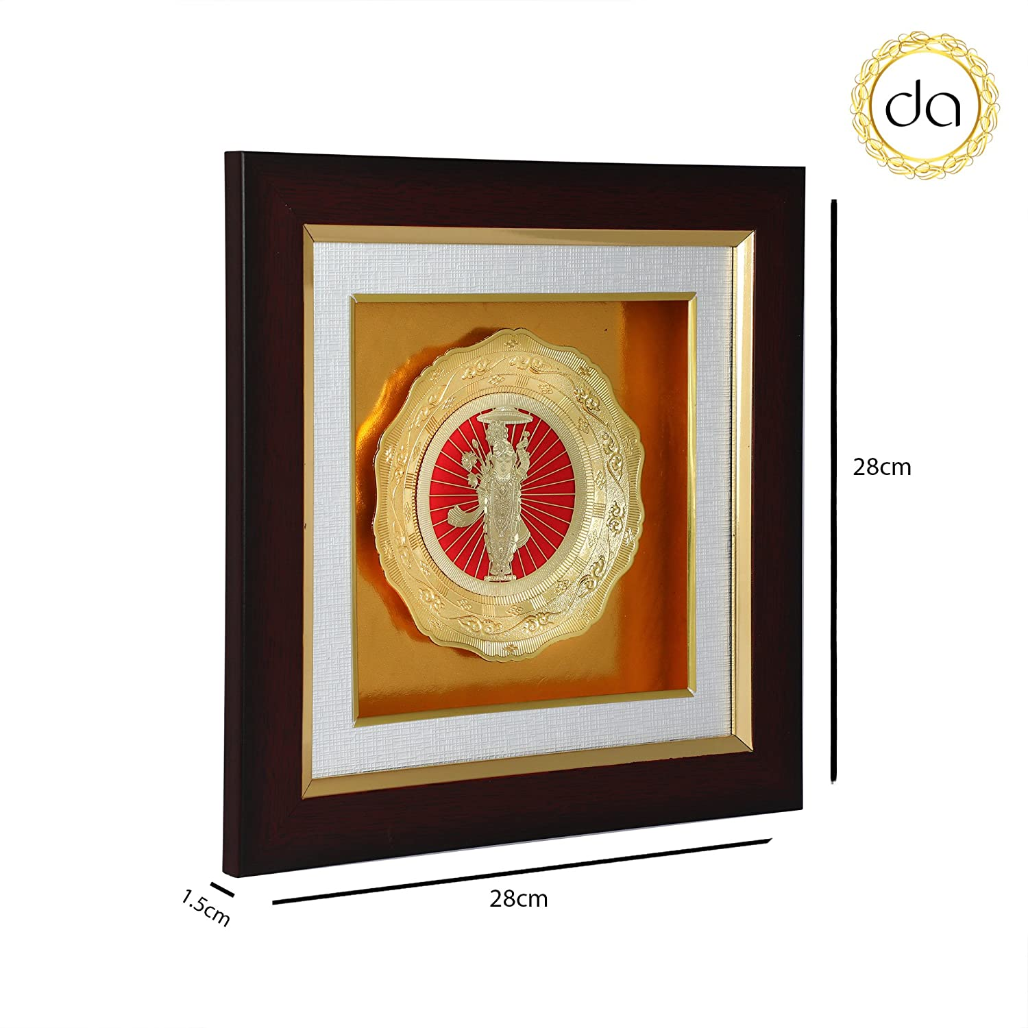 c03b3f10fbe4 Buy Dev Aastha Pure Silver Plated Wall Hanging Home Décor Frame Online at  Low Prices in India - Amazon.in