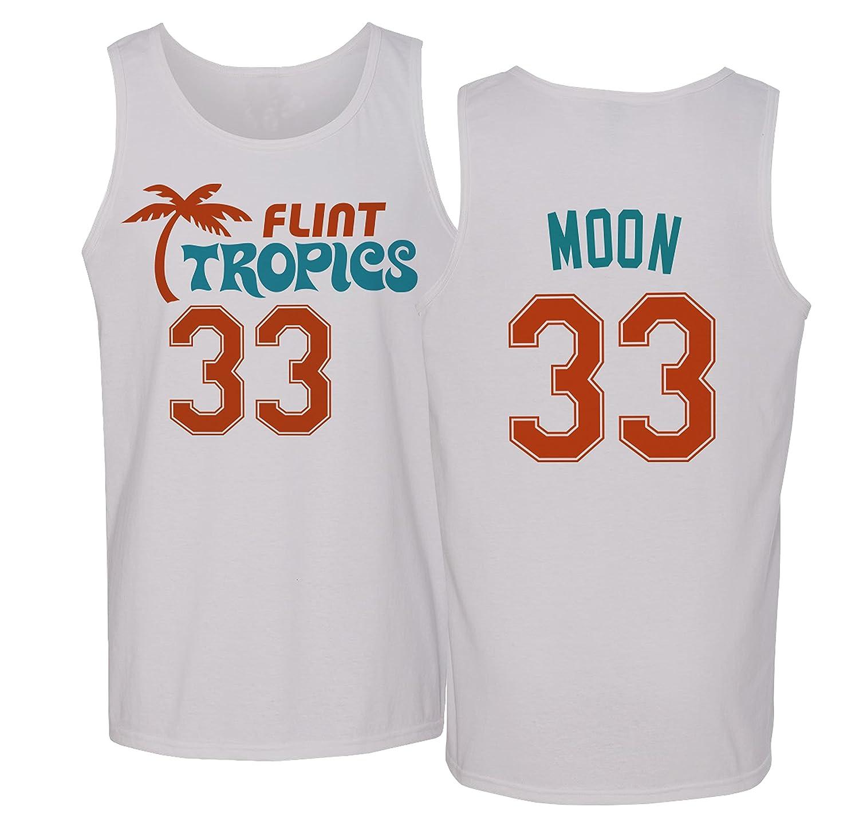 7134c64ac68 Amazon.com   Flint Tropics Jackie Moon 33 Semi Pro Basketball Men s Tank  Top   Sports   Outdoors