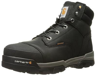 ba1d6a38090 Carhartt Men's Ground Force 6-Inch Black Waterproof Work Boot - Composite  Toe, Black