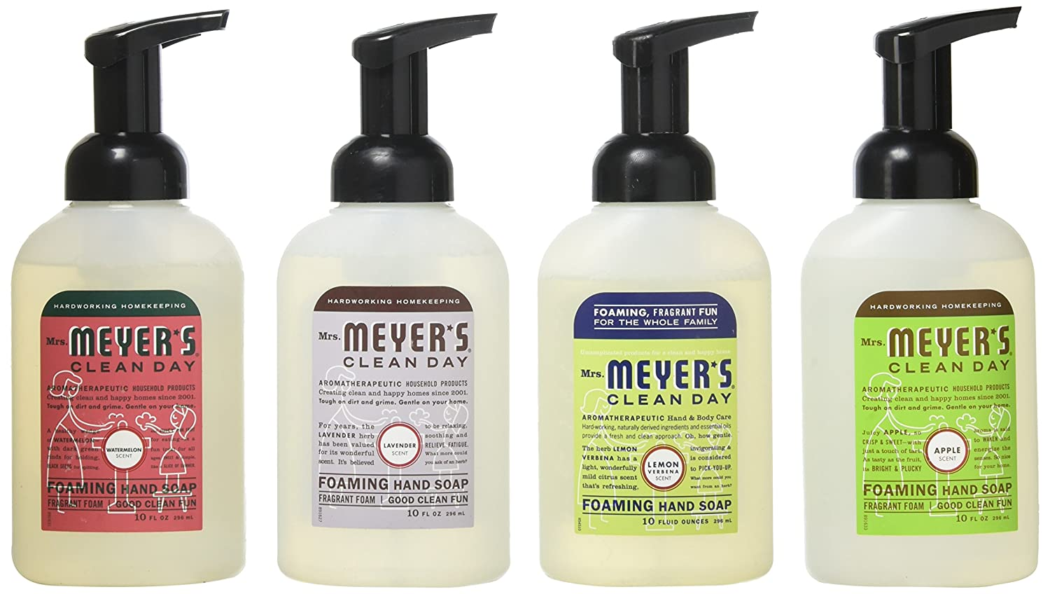 Mrs. Meyers Clean Day 4-Piece Foaming Hand Soap Variety Pack (10 oz Each) by Mrs. Meyers B018RDZVD2