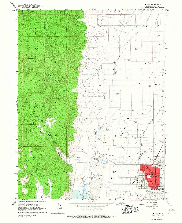 Amazon Com Utah Maps 1965 Manti Ut Usgs Historical Topographic