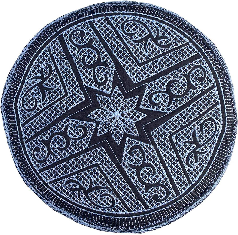 K/_Caps Eid Namaz Kufi Mens Koofi Hand Embroidered Prayer Cap Pakistani Topi
