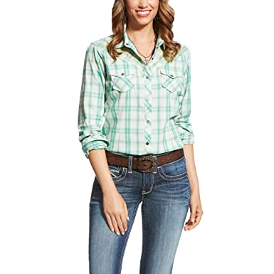 1b923375 ARIAT Women's Real Ace Shirt at Amazon Women's Clothing store: