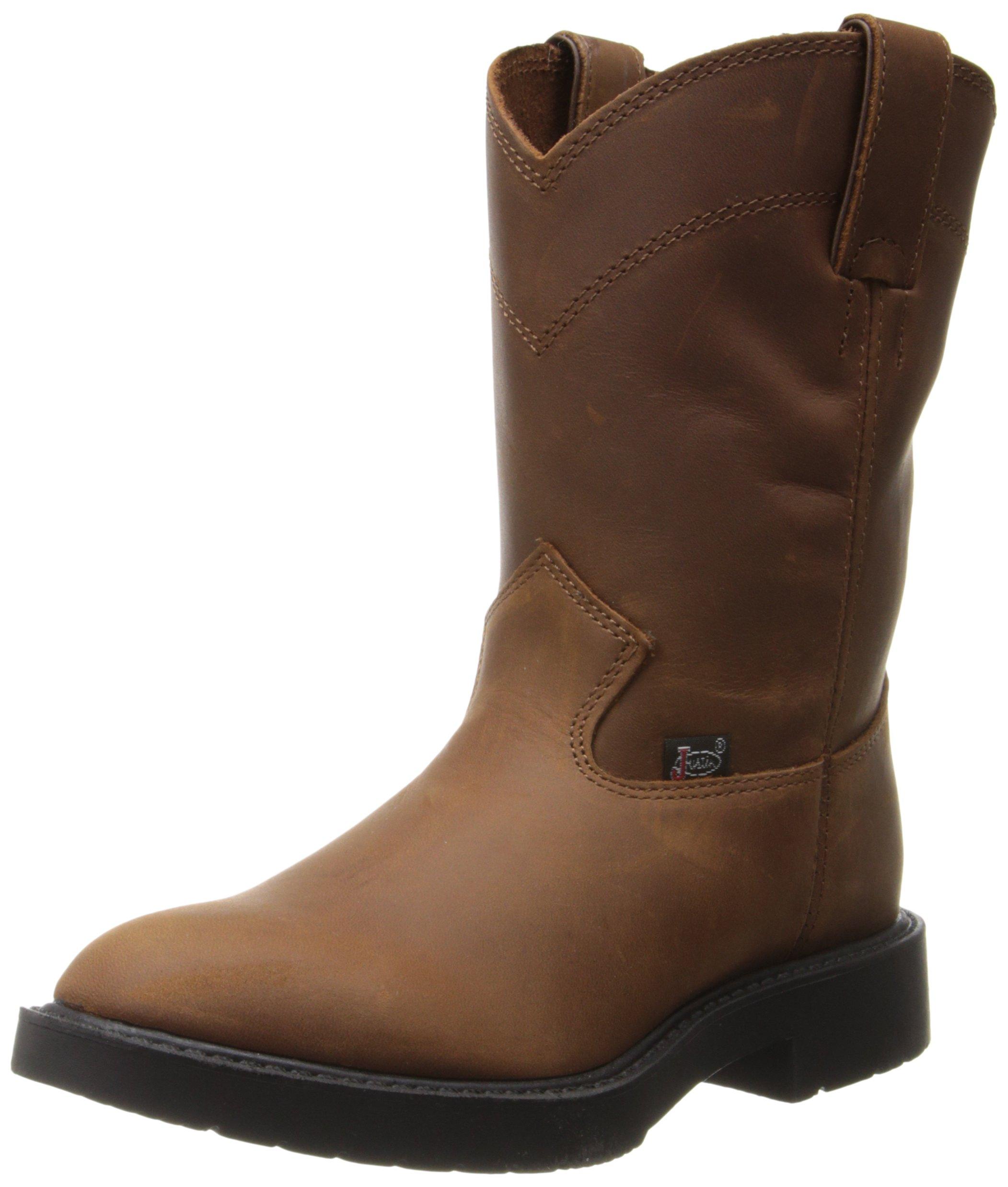 Justin Boots Work Boots (Toddler/Little Kid),Aged Bark,5.5 D US Little Kid