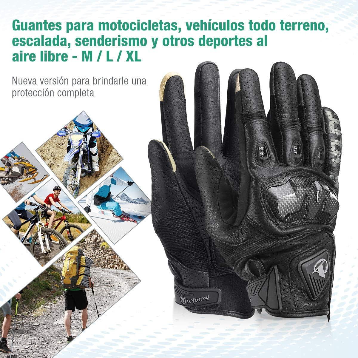 isYoung Guantes de Ciclismo Guantes para Bicicleta de Pantalla Táctil para Mujer y Hombre Ajustable Invierno y Verano para Moto Conducción Ciclismo ...