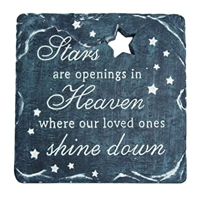 TenWaterloo Memorial Garden Stepping Stone, Stars are Openings in Heaven Where Our Loved Ones Shine Down, 9-3/4 Inches : Garden & Outdoor