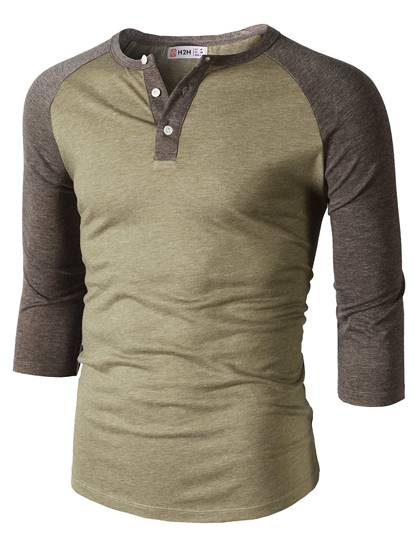 【H2H】ベーシック メンズ カジュアル ファッション オシャレ カラー ヘンリーネック 七分袖 ティーシャツ CMTTS0174 B07CR92RXH X-Large Cmtts0229-heatherbeige Cmtts0229-heatherbeige X-Large