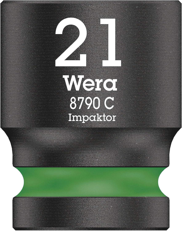 Wera 05004578001 Llave de Vaso 1//2 21.0 mm Verde fosforito