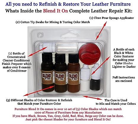 Amazon.com: Blend It On Complete Leather Refinish, Restore ...
