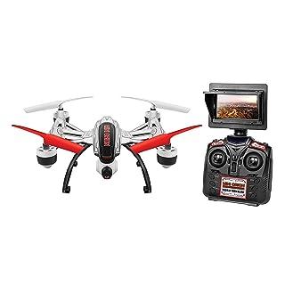 World Tech Toys Elite Mini Orion 2.4GHz 4.5CH LCD Live-View Camera RC Drone, White/Black/Blue/Red/Glow, 12 x 12 x 4