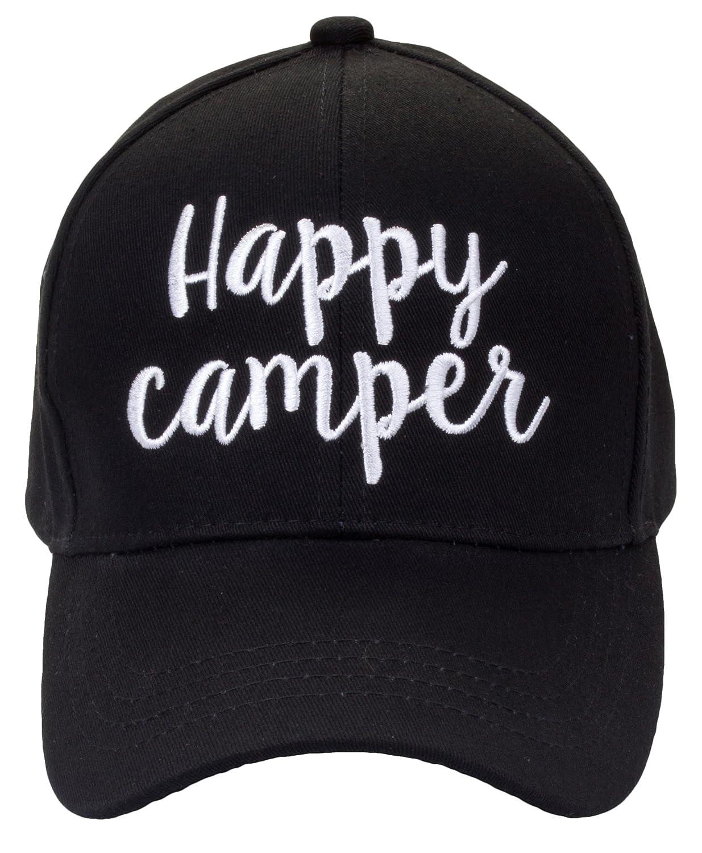 Funky Junque HAT レディース B07BGBSKF9 Happy Camper - Black Happy Camper - Black -
