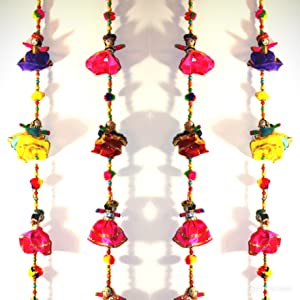 Rajasthani Handcrafted Decorative Door Hangings/Wall Hanging/latkans/Bandharwal Wall Decor for Diwali Celebrations and Home Decor