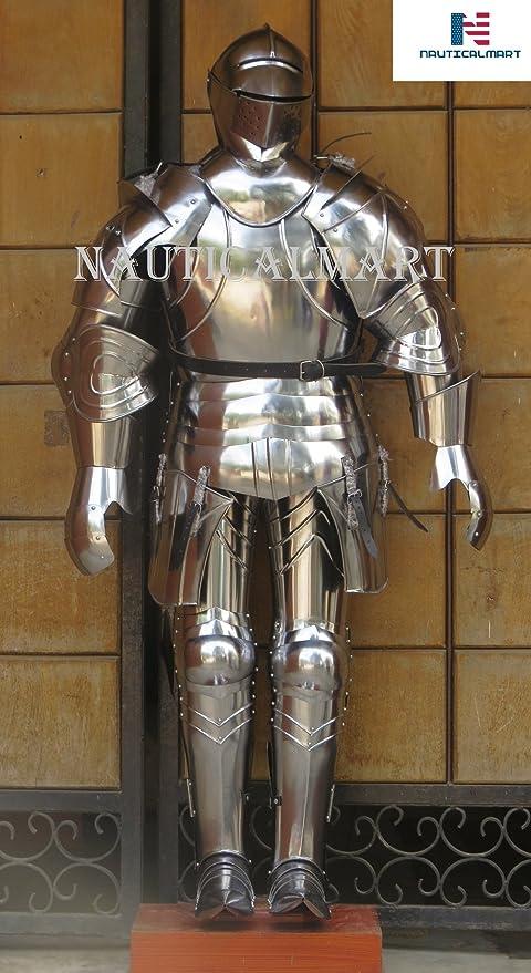 nauticalmart medieval full body armor knight suit of armor halloween costume iotc armoury