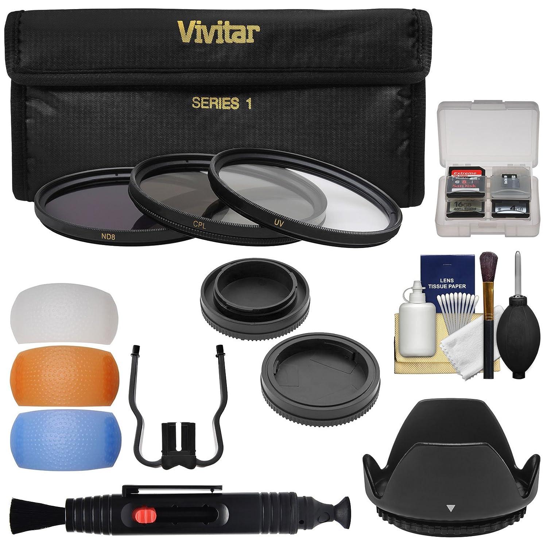 55mm UV//CPL//ND8 Vivitar 3-Piece Multi-Coated HD Filter Set