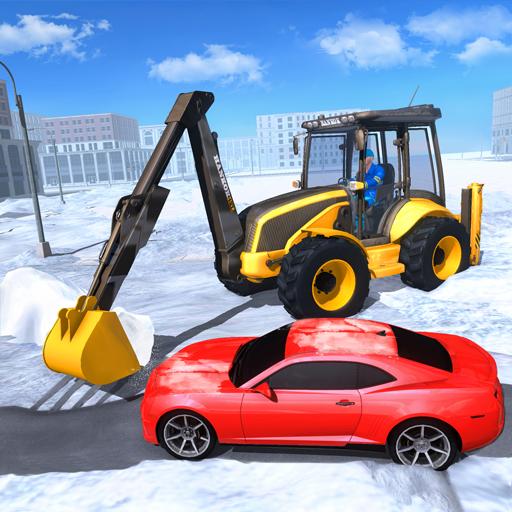 Heavy Excavator Snow Plow Simulator