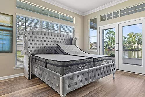 Sven Son Split King Adjustable Bed Base Frame 14 Luxury Cool Gel Memory Foam Hybrid Mattre