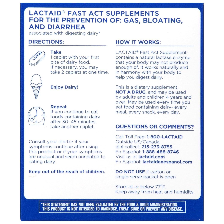 Amazon Com Lactaid Fast Act Lactose Intolerance Lactase Enzyme