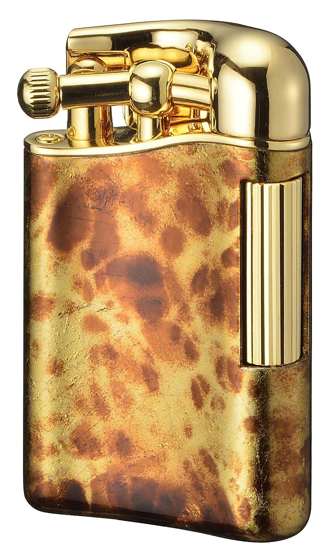 【SAROME限定品】 フリント ガス ライター 白檀塗金マーブル/ゴールド0.2μ PSD12LE-04 B01MSL7NPA