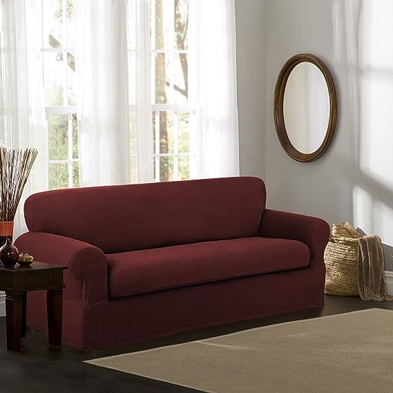Amazon.com: maytex Stretch Reeves 2-Piece Slipcover, sofá ...