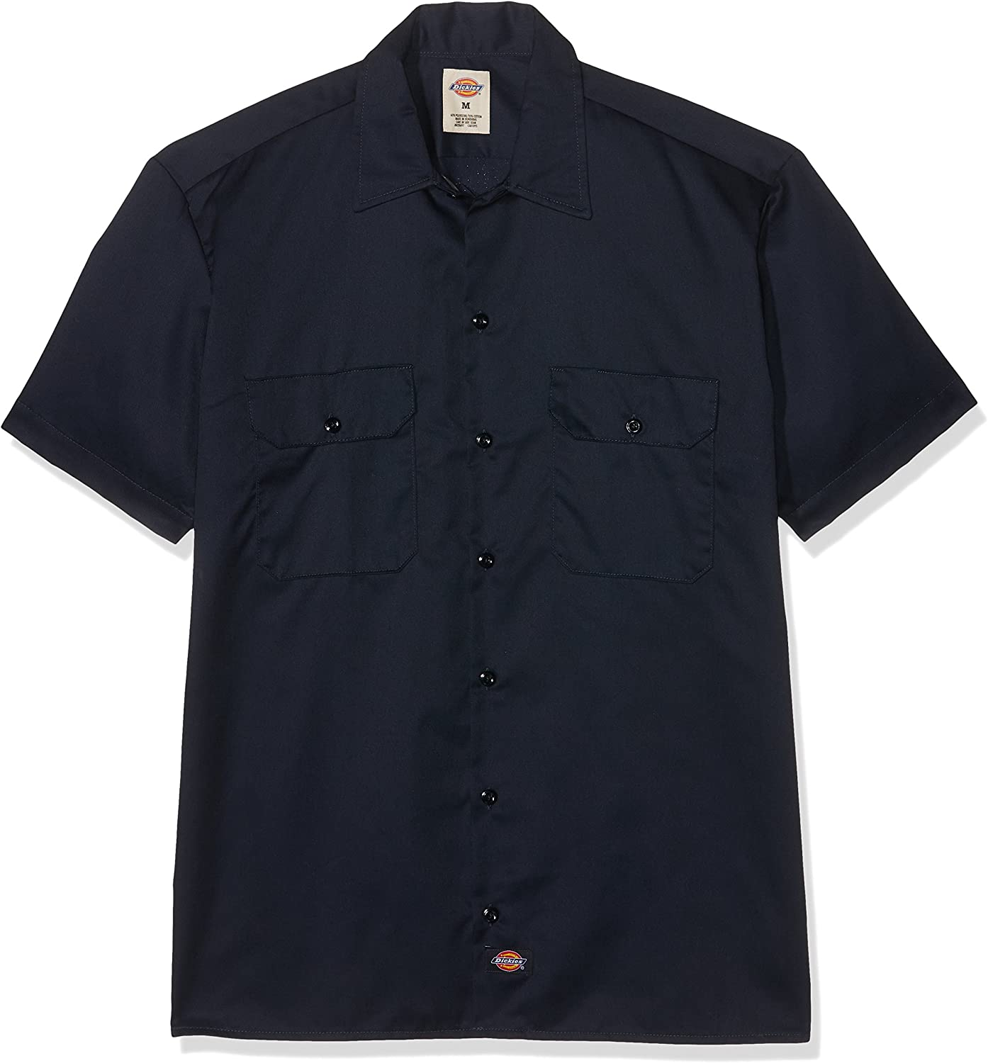 Dickies Men's Big and Tall Short-Sleeve Work Shirt: Clothing