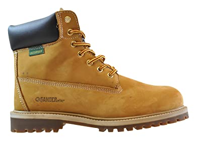 Men's Nubuck Classic Construction Work Boots Wheat Available in Medium and Wide Width