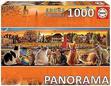 Educa Borras Puzzle Gatos En El Embarcadero Panorama 1000 ...