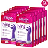 Playtex Living Reuseable Rubber Cleaning Gloves, Premium Protection (Small, Pack - 12)