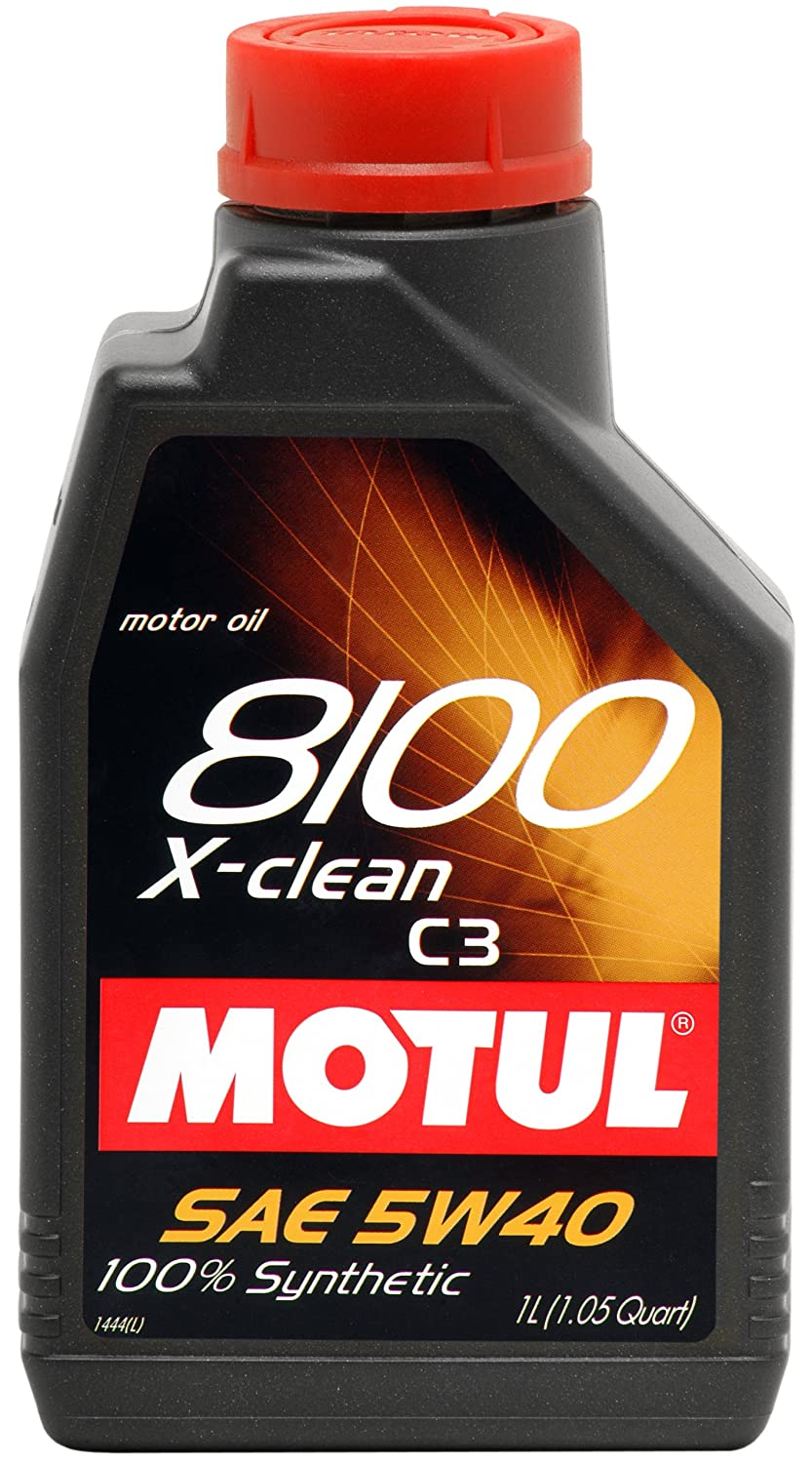 Amazon.com: Motul 841611 8100 X-clean 5W-40 ACEA C3 100 Percent Synthetic Gasoline and Diesel Lubricant for Euro IV Engines - 1 Liter: Automotive