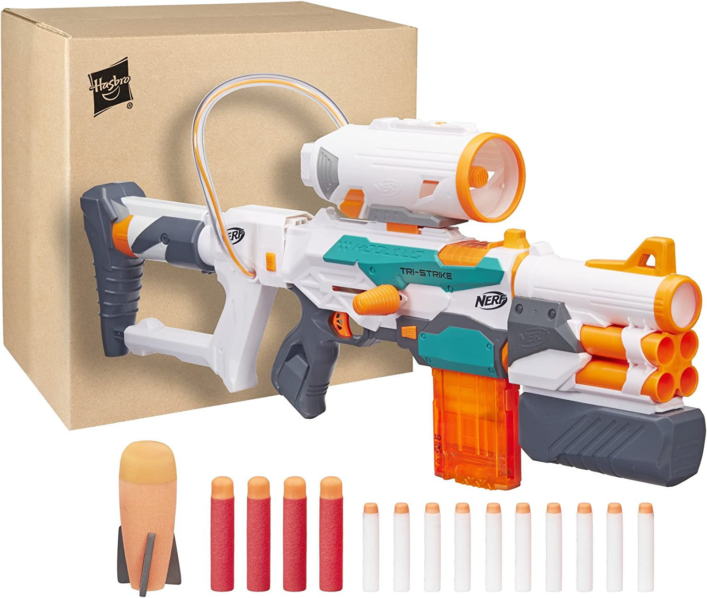 Hasbro Nerf b5577F03–Modulus Blaster–Tri de Strike