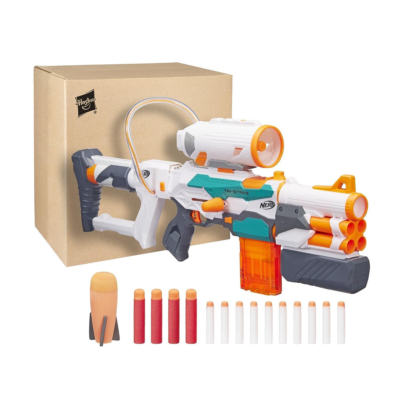 Hasbro Nerf b5577F03–Modulus Blaster–Tri de Strike B5577F03