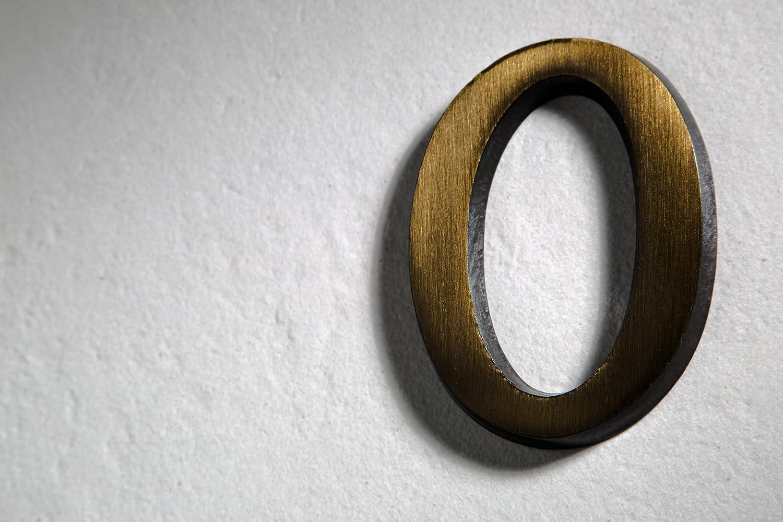 Huber N/úmero de Casa lat/ón antiguo 10/cm elegante dreidimensionales Dise/ño