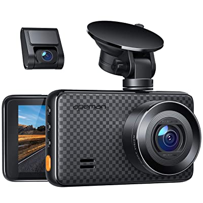 APEMAN 1440P&1080P Dual Dash Cam, 1520P max, Front and Rear Camera for Cars with 3 Inch IPS Screen, Support 128GB, Driving Recorder with IR Sensor Night Vision, Motion Detection, Parking Monitor: Electronics