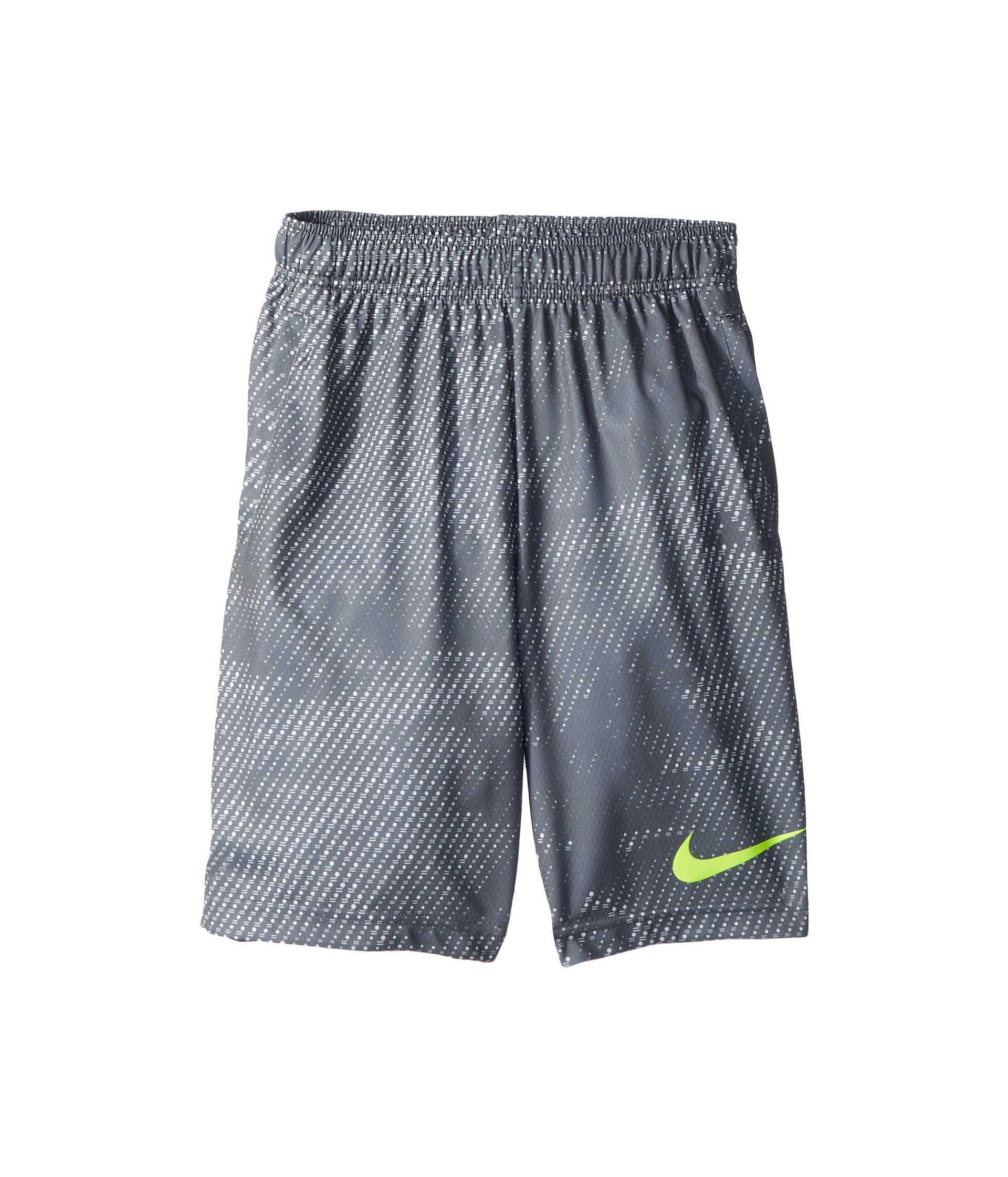 Nike Boy's Athletic Dry Printed Fly Comfortable Elastic Training Shorts with Pockets (Cool Grey/Medium)