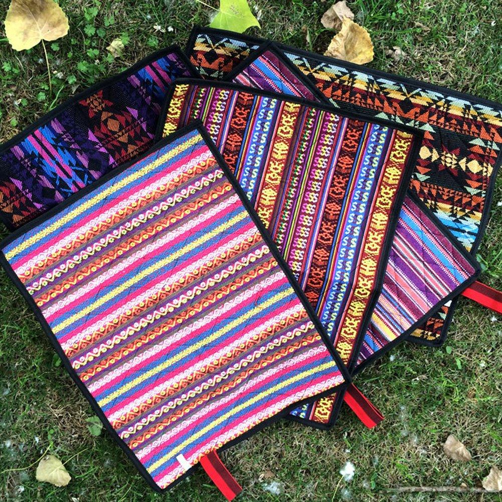 Steellwingsf Teppich, tragbare Boho geometrische Wanderung Outdoor Faltmatte Wasserdichte-Sitzpolster-zuf?llige Farbe & Muster