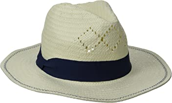 d7c20047 Physician Endorsed Women's Belize Fedora Straw Sun Hat with Ribbon Trim, Rated  UPF 30+