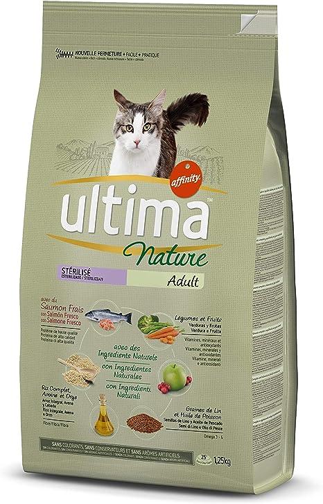 Ultima Nature Pienso para Gatos Esterilizados con Salmón - 1.25 kg