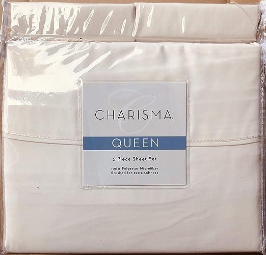 Printed *** Charisma Microfiber 6-piece Sheet Set Select color /& size