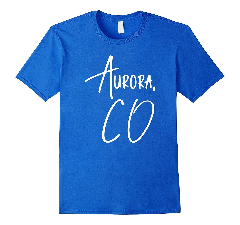 Aurora Colorado USA American City T-Shirt-CD