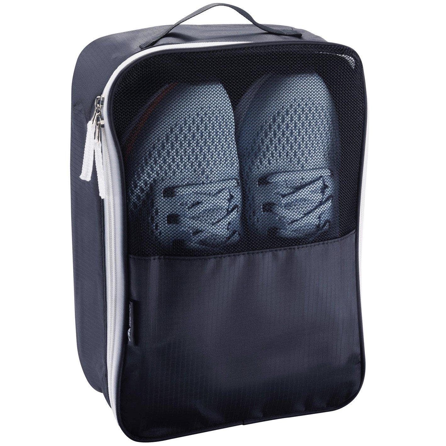 Alpamayo® bolsa para zapatos, bolsa transpirable para zapatos, ideal para deportes o viajes, fácil almacenamiento en bolsas deportivas, maletas o equipaje de mano, color negro ALP-SHO2