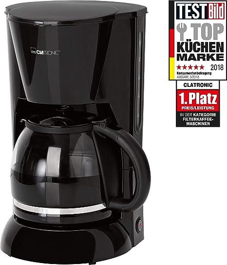 Clatronic KA 3473 Cafetera eléctrica de Goteo automática, máquina café de Filtro Capacidad 12 a